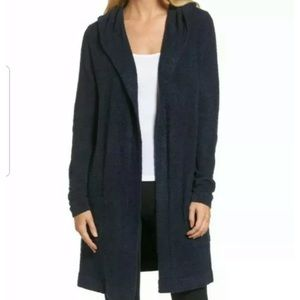New Barefoot dreams cozy chic lite hoodie navy M